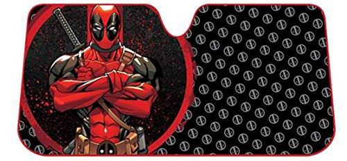 Plasticolor 003757R01 Deadpool Marvel Repeater Accordion Bubble Sunshade