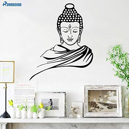 Wandaufkleber Indischer Buddha Buddhismus Sakyamuni Statue Abnehmbare Vinyl Yoga Studio Schlafzimmer Home Decoration Kunst Aufkleber Poster Wandbild