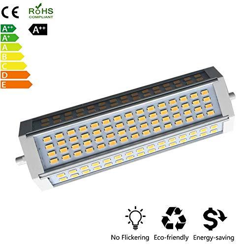 ZQYR Lamp# R7s LED 189mm 50W Linear R7s LED Leuchtmittel, 500W J189 J Typ LED Birne Halogenlampe Flutlicht Ersatz, Warmweiß 3000K Birne, (110v~240v),Warmlight