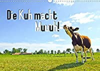 Die Kuh macht Muuuh! (Wandkalender 2022 DIN A3 quer): Glueckliche Kuehe auf Wiesen in Niedersachsen (Geburtstagskalender, 14 Seiten )