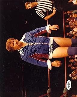 HARLEY RACE NWA WWE SIGNED JSA CERT STICKER 8X10 PHOTO AUTHENTIC AUTOGRAPH