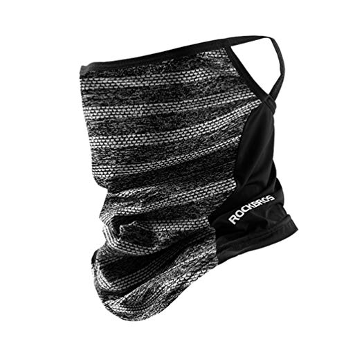 ROCK BROS Cooling Neck Gaiter with Ear Loops Bandana Face Scarf Mask for Men Women