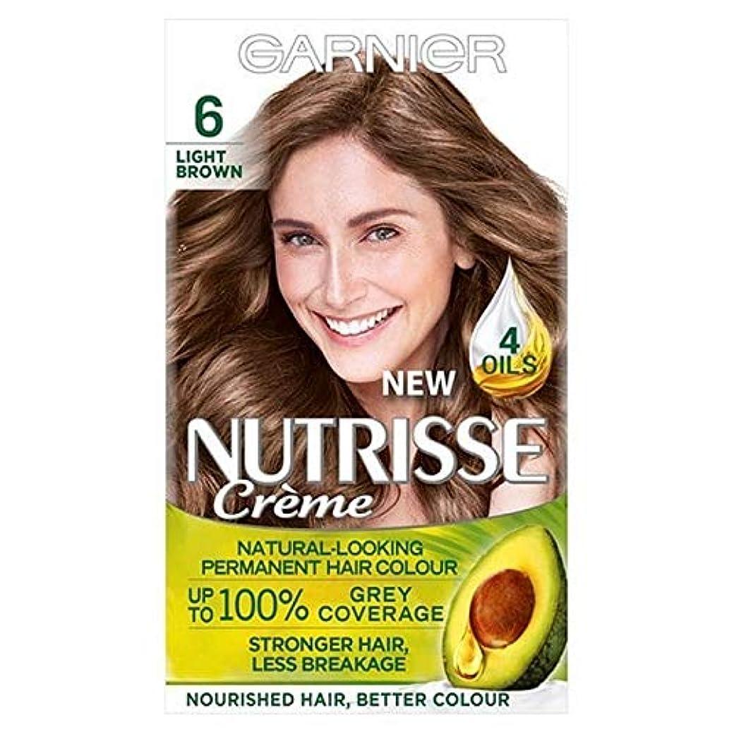 悪名高い委任ジャグリング[Garnier ] ガルニエNutrisse永久的な毛髪染料ライトブラウン6 - Garnier Nutrisse Permanent Hair Dye Light Brown 6 [並行輸入品]