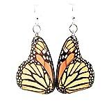 Green Tree Jewelry Monarch Butterfly Earrings Wooden Laser Cut # 1561