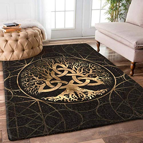 Generic Celtic Tree of Life Rug Area Rug for Bathroom, Kitchen and Living Room Decor with(2x3, 3x5, 4x6, 5x8) Size
