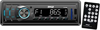 Car Stereo Head Unit Receiver - Premium In Dash AM/FM-MPX Tuning Media Radio with MP3 Playback, LCD Display & Preset Station Memory - USB, SD & Aux Inputs - Remote Control Included - Pyle PLR34M