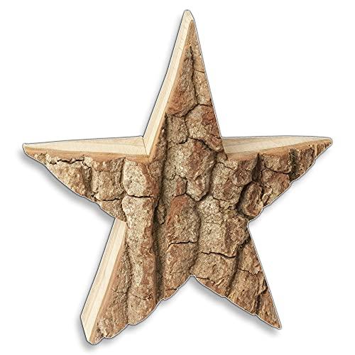 HOFMEISTER® Stern mit Rinde aus Holz 35 cm