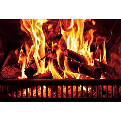 Yeele 3x2,5m Sfondo fotografico Fuoco ardente Legna da ardere Camino in mattoni Flickering Flame Motivo 5 Sfondo per Fotografia Festa a tema Decorazione evento Bambini Adulti Selfie Foto puntelli