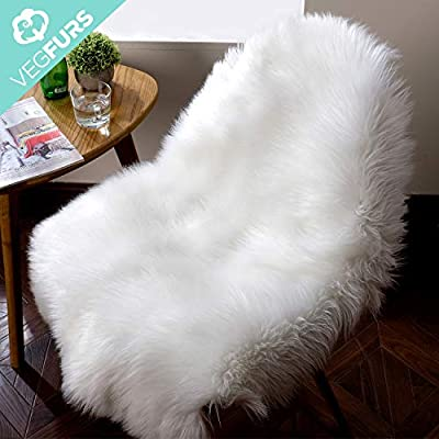 VEGFURS Sheepskin Faux Fur Chair Couch Cover Area Rug