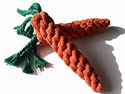 Easter Toys For Dogs - Carrot shaped rope toys.