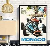 SGDDGF Super Rennwagen F1 Monaco Retro Motor Poster