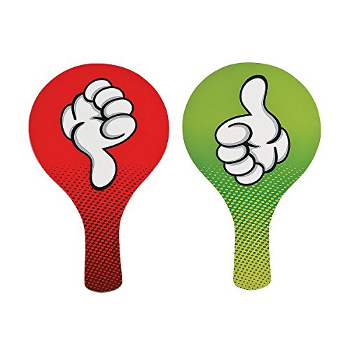 Thumbs Up / Thumbs Down Classroom Voting Paddles (set of 24) Teacher Classroom Supplies and Auction Signs