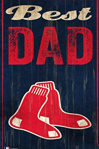 Boston Red Sox Best Dad Lined Notebook Journal.
