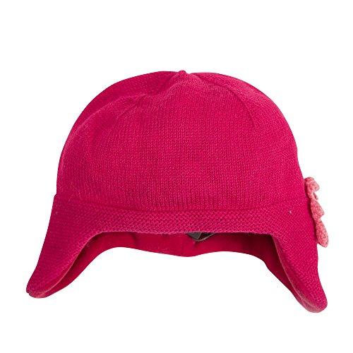 Catimini Bonnet Fleur, Rouge (Pivoine), Small (Taille Fabricant: 44CM) Bébé Fille