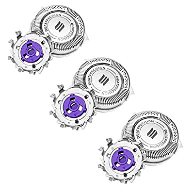 3 Pack Replacement Shaver Heads for Philips Norelco HQ8 PT720 PT725 PT815 PT860 AT890 AT899 AT750 Series, Men Electric Shaving Heads Blades Trimmer Razor Accessories Replacement Rotary Heads by XNFIVE