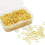 1000pcs Gold Jump Rings for Jewelry Making 6mm Gold Plated Open Jump Rings for Earring Making.