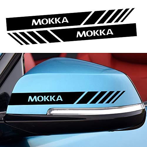 HBTTFR Vinyl Auto Rückspiegel Spiegel Aufkleber Rückspiegel Aufkleber Aufkleber Karosserie Aufkleber Dekor für Opel Mokka, wasserdicht, Auto Styling Zubehör, 2 STK