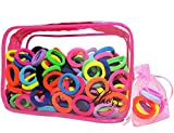 200PCS Baby Hair Ties for Toddlers Kids, Small Hair Bands Child Ouchless Elastics, Girls Hair Accessories Ponytail Holders, 10 Colors By Huzz
