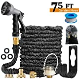 75 FT Expandable Garden Hose Pipe/Lightweight,Durable& Flexible Magic Expanding Hose -Bonus 8 Function