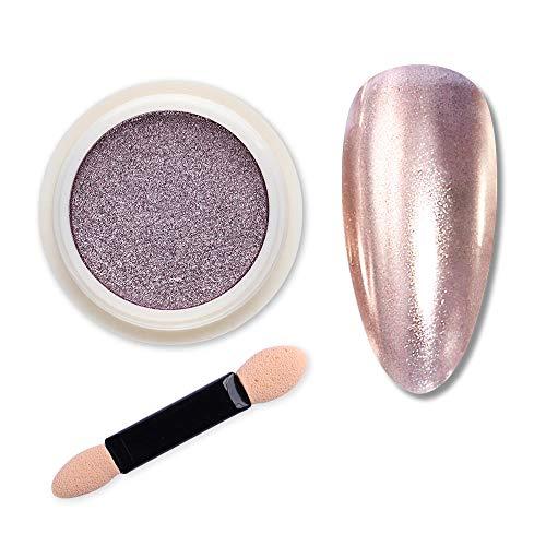 ouzyi Metallic Nagel Design Pulver, Spiegel Effekt Nail Gel Nagellack Dekor UV Gellack Design...