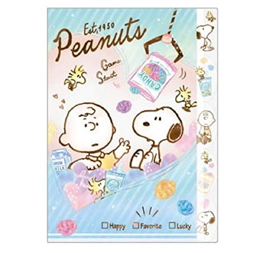 5 Index Clear Folder File/Snoopy A4 die-Cut Made in Japan (63807 Crane Game)