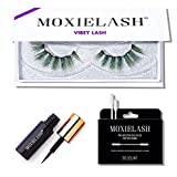 MoxieLash Vibey Kit - Mini Magnetic Liquid Eyeliner for Magnetic Eyelashes - No Glue & Mess Free - Fast & Easy Application - Set of Vibey Lashes & Makeup Removers Included