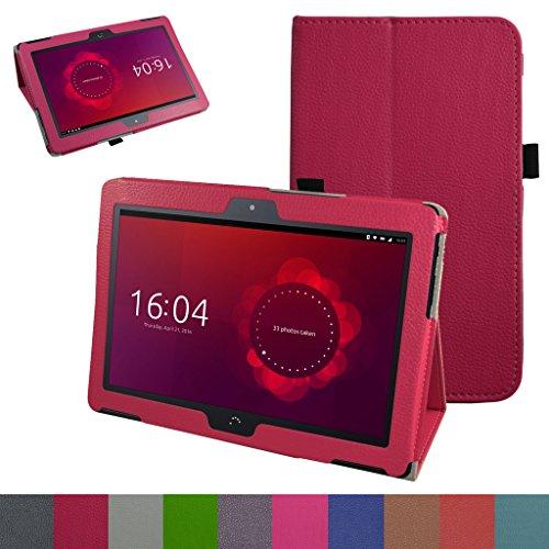 MAMA MOUTH bq Aquaris M10 Funda, Slim PU Cuero con Soporte Funda Caso Case para 10.1' bq Aquaris M10 FullHD FHD HD/Aquaris M10 Ubuntu Edition Android Tablet,Magenta
