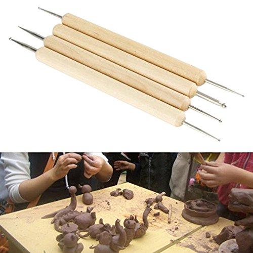 Bodhi2000 Lot de 4 stylos à Bille, Motif gaufré, Toner, kit d'outils