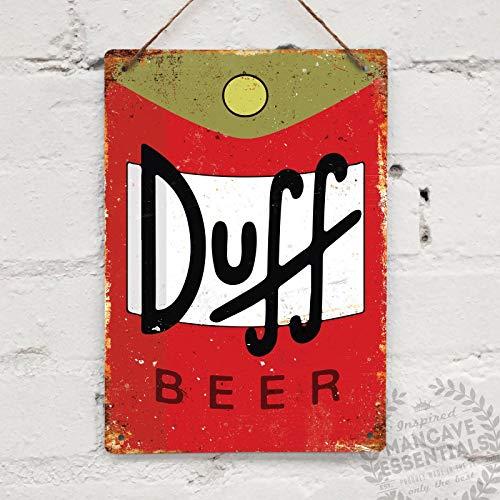 SIGNCHAT Duff Bier Vintage Tin Teken Metalen Decor Metalen Teken Muur Metalen Tin Teken 8X12 inch