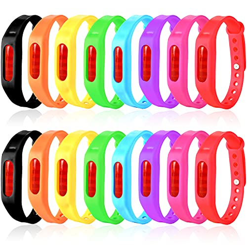 Mosquito Repellent Bracelets, 16 Pack Individually Wrapped Waterproof Insect & Bug Repellent Wristbands for Kids & Adults Outdoor Camping Fishing Traveling