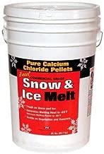 Excel Snow & Ice Melt Commercial Grade Pure Calcium Chloride Pellets, 50 lb Bucket