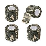 EKIND Multi-Functional Self-Adhesive Protective Camouflage Stealth Waterproof Tape Wrap (ACU Camo, Pack of 4)