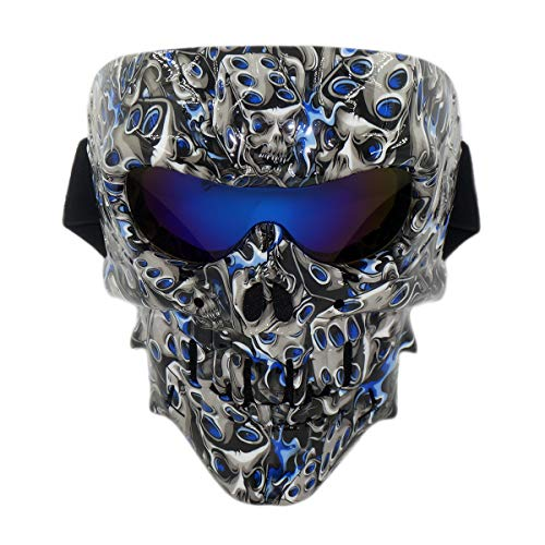 Lawnite [Upgraded Version] Cthulhu Skull Airsoft Mask, Full Face Protective Motorcycle Goggles Masks, Airsoft Safety Goggles Mask for Outdoor Cs Wargame, Cosplay and Movie Camouflage Mask