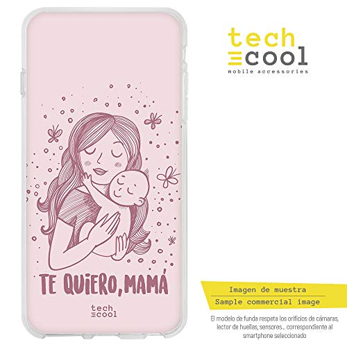 Funnytech® Funda Silicona para iPhone 7 /iPhone 8 [Gel Silicona Flexible, Diseño Exclusivo] Dia de la Madre te Quiero Mama Version Rosa