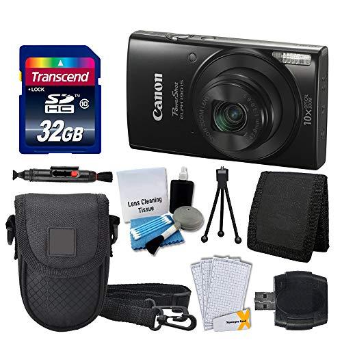 Canon PowerShot ELPH 190 is Digital Camera (Black) + Transcend 32GB Memory Card + Camera Case + USB Card Reader + Screen Protectors + Memory Card Wallet + Cleaning Pen + Great Value Accessory Bundle