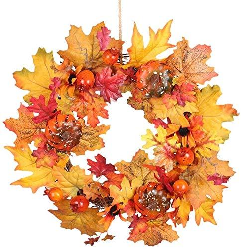 ZBM-ZBM Acorn squash cranberry slingers Kerst slingers versierde de voordeur esdoorn blad Thanksgiving Halloween Muur 40CM / 15.7 Yingcun fee lichten
