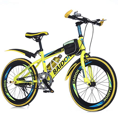 YAOXI Bicicleta De Montaña con Velocidad Única, Bolsillo del Marco Y Sostenedor...
