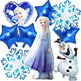 COXCAT Decoración De Fiesta De Cumpleaños- 9 Pz De Decoraciones De Cumpleaños Congeladas, Globo De Helio Azul Para Niñas, Mujeres, Cumpleaños, Baby Shower, Fondos De Fiesta