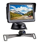 Regetek HD Digital Backup Camera System 5'' LCD Monitor Waterproof Night Vision Rear/Front View Camera for Cars ATVs SUVs UTVs Can-Am Vans Campers Sedans Pickup Truck Minivans Trailer RVs Motorhomes