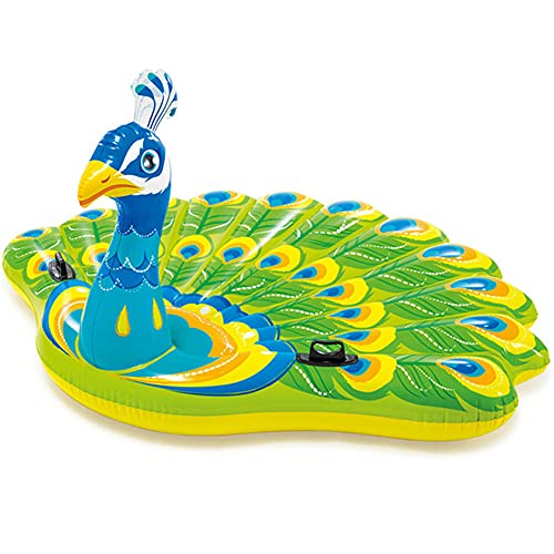 VNFWLDM Inflatable Pool Float Ride, Inflatable Pool Float Party Toys Ride-On with Durable Handles Summer Beach Swimming Pool Party Game Pool Toy Tube Raft Lounge Kids Adults Dinosaur Toy Island