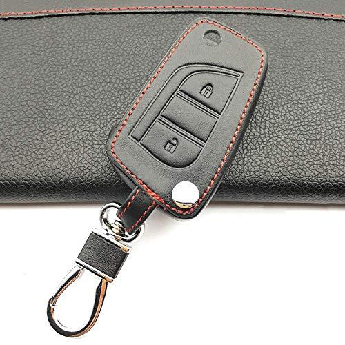 HUAQIANYU Car Accessories Key Shells,Car Key Cover Case Keychain , Leather Key...