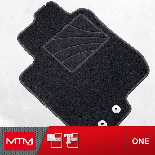 MTM Tapis de Sol pour Civic VIII de 2006 a 02.2012, sur Mesure en Velours Noir, One cod. fr2869