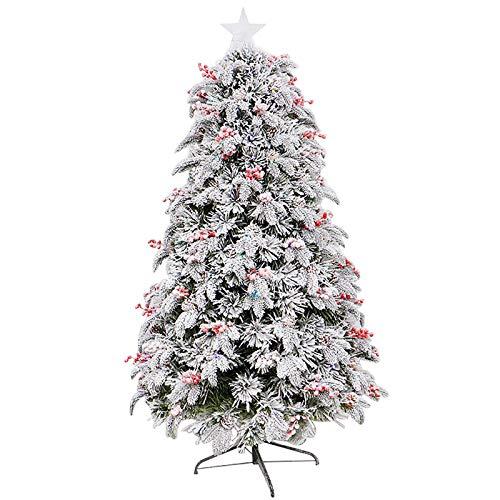 con Ornamenti Stellari Luci A LED Supporto in Metallo Albero di Natale,per La Tradizione Vacanza Interna,PVC Neve Affollata Albero di Natale Artificiale-