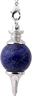 JOVIVI péndulo Esoterisme radiestesia Divination piedras Chakra Pendantif combinación de pulsera, color azul (Lasurite)