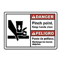 ピンチポイントは手を明確に保つブリキ看板ヴィンテージ錫のサイン警告注意サインートポスター安全標識警告装飾金属安全サイン面白いの個性情報サイン金属板鉄の絵表示パネル