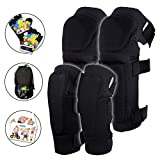 [2nd Gen] Innovative Soft Kids Knee and Elbow Pads with Bike Gloves | Toddler Protective Gear Set w/Mesh Bag& Sticker | CSPC Certified& Comfort | Skateboard Knee Pads for Children Boys Girls