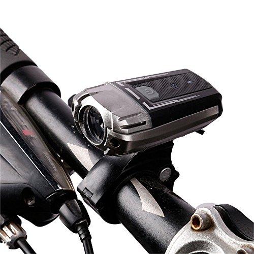 Amadoierly Luz de Bicicleta Luz de Bicicleta USB Faro Casco LED Iluminación...