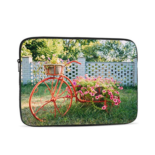Laptop Sleeve Case 17 Inch Decorative Vintage Model Old Bicycle Equipped Laptop Sleeve/notebook Computer Pocket Case/tablet Briefcase Carrying Bag