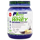 Performance Inspired Nutrition Isolate Whey Protein Powder - All Natural - 25G - Fast Absorbing & Clean - Added L-Glutamine - Contains BCAAs - Vanilla - 2lbs