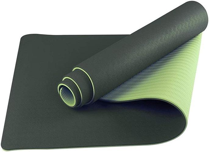 Personnalité BiCouleure Tapis de Yoga Non-Slip Fitness Danse Extérieure Portable Bébé Rampant Pliable Rose Pourpre